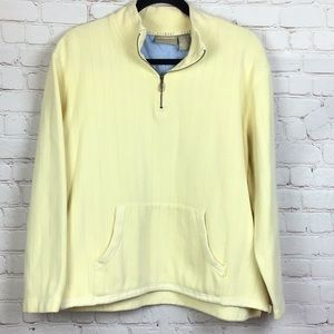 Liz Claiborne butter yellow pullover sweater. L